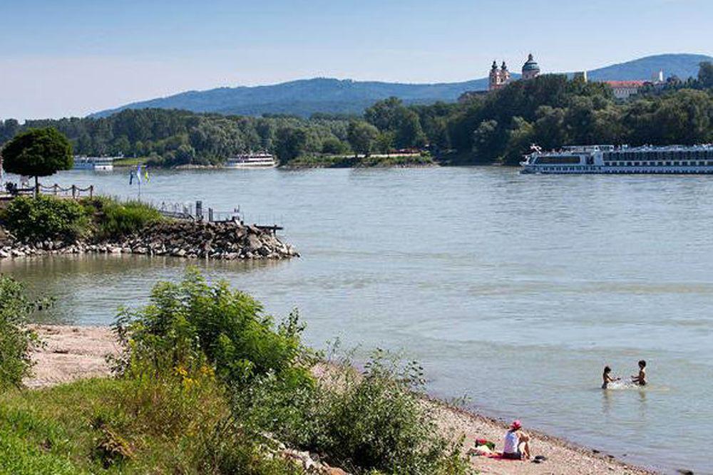 Radtour Passau-Wien - Badestrand Luberegg