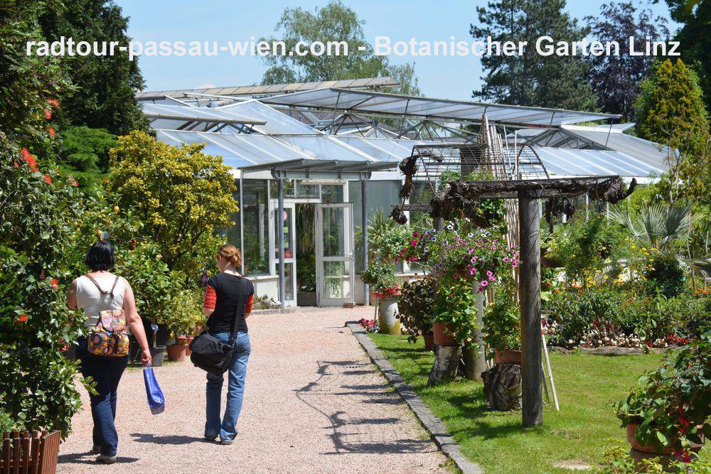 Radtour Passau-Wien - Botanischer Garten in Linz