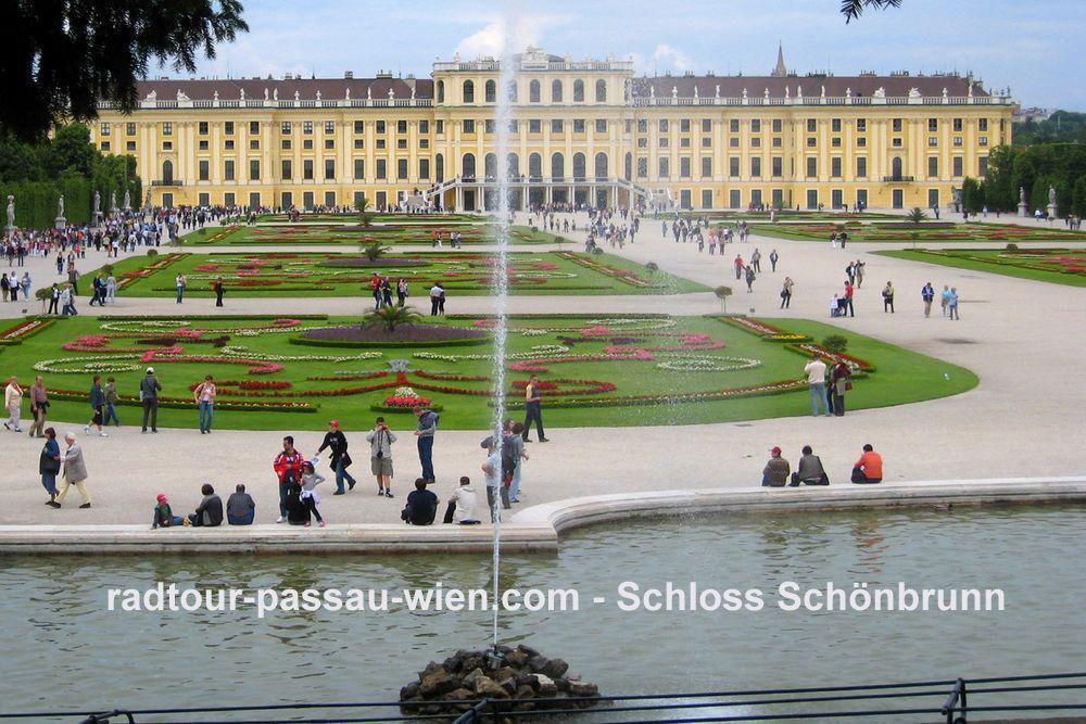 Radtour Passau-Wien - Schloss Schönbrunn
