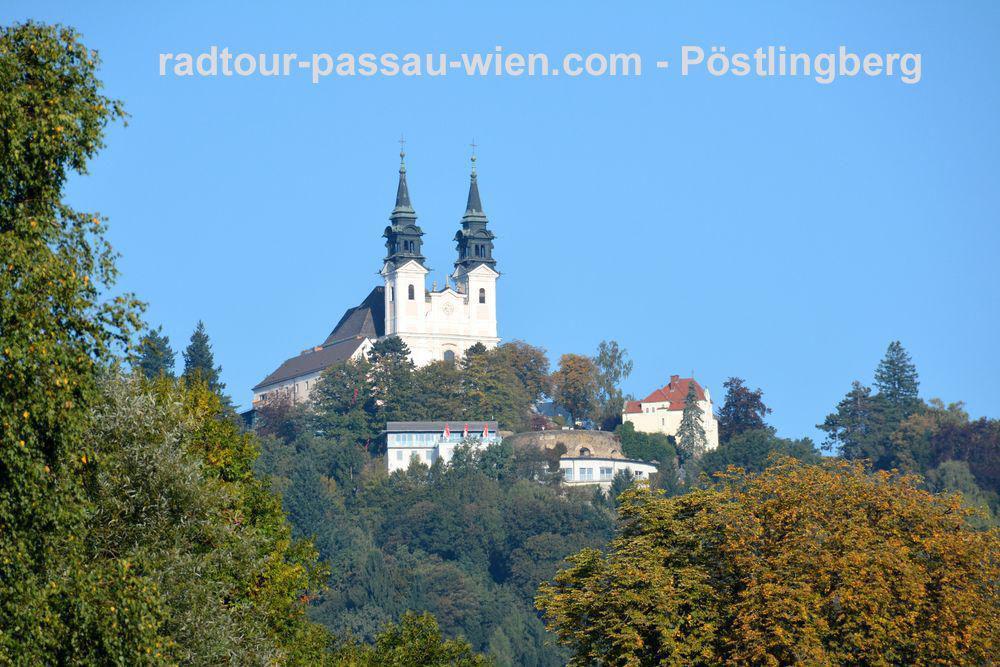 Radtour Passau-Wien - Wallfahrtskirche auf dem Pöstlingberg