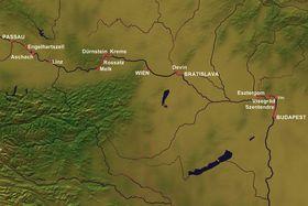 Karte Donau-Carissima