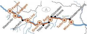Passau-ien mit MS Primadonna - Karte