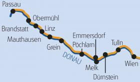 Passau-Wien mit MS Arlene - Karte