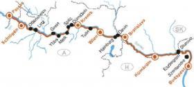 MS Primadonna auf der Donau - Karte