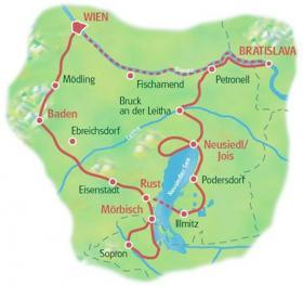 Cycle Tour Burgenland - map